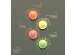 透明球体信息图表