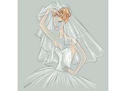 美丽新娘插画