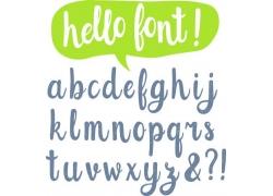 个性时尚英文字母字体