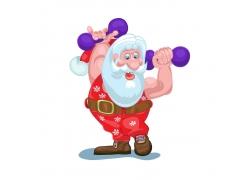 健美的圣诞老人