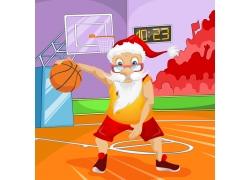 打篮球的圣诞老人