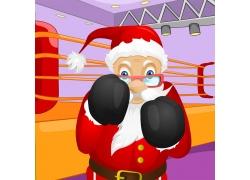 打拳击的圣诞老人