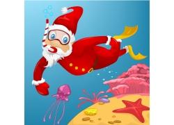 潜水的圣诞老人