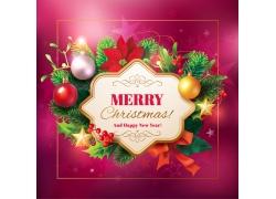 圣诞节标签冷杉枝背景