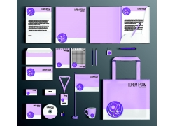 浅紫色VI背景