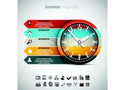 时间钟表信息图表