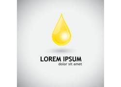 黄色润滑油水滴标志