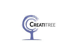 创意曲线C形树标志