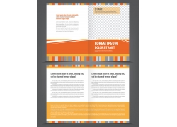 橙色时尚折页背景图片