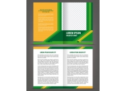 绿色时尚折页背景图片