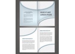 灰色简约时尚折页设计图片