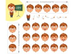 可爱卡通男孩插画图片