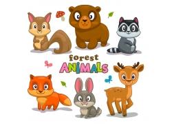 可爱卡通动物漫画图片