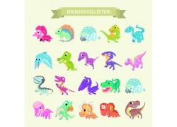 彩色卡通动物恐龙图片