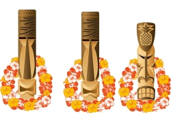 夏威夷元素插画