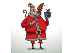捧着礼物的圣诞老人