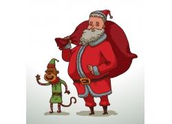 扛礼物的圣诞老人