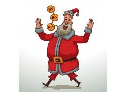 卡通圣诞老人插图