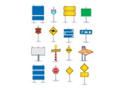 交通指示牌与广告牌图片