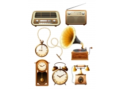 老式家电时间钟表