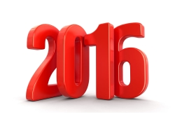 2016新年立体字
