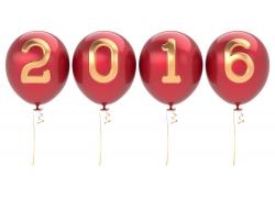 2016新年气球字体
