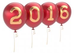 2016新年气球黄金字