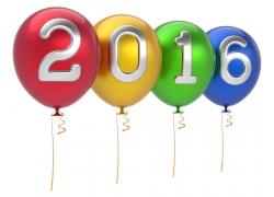 卡通气球2016新年字体