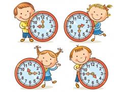 时间钟表与儿童漫画