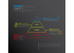 光影光线金字塔信息图表