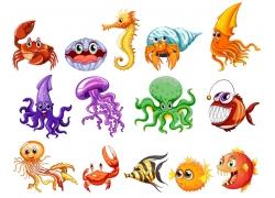 海洋生物插画图片