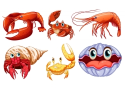 卡通海洋动物漫画图片