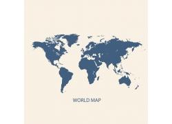 蓝色世界地图图片
