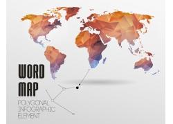 低多边形世界地图图片