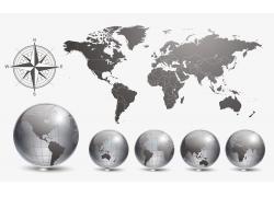 水晶地球与世界地图图片