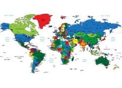 彩色世界地图图片