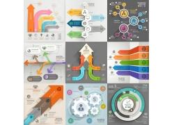 彩色箭头圆环信息图表