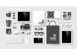 数码电子产品VI背景