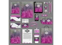 紫色三角形背景VI设计
