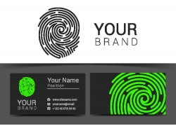 创意手指印logo名片设计