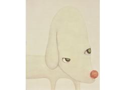卡通小狗油画图片