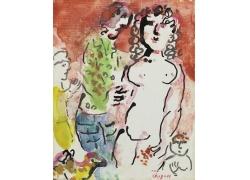 女人抽象画图片