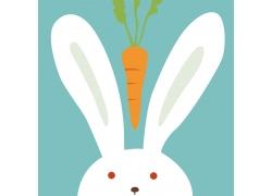 动物理想卡通兔子插画图片