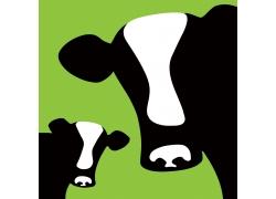 卡通奶牛插画图片