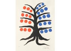 卡通树抽象画图片