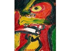 抽象人物油画艺术图片