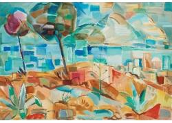 抽象风景油画艺术图片