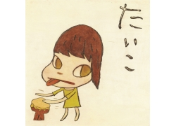 卡通动漫女孩油画