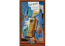 欧美现代抽象装饰画图片