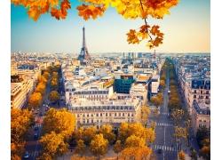 秋天巴黎风光